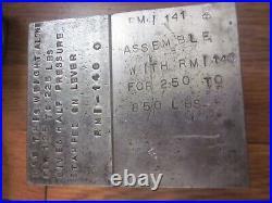 Machinist Lathe Mill Toolmaker made Precision Tool Scale Balance with Custom Box
