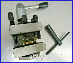 Machinist Lathe Tool Tool Post with Tool wrench Tool Holder