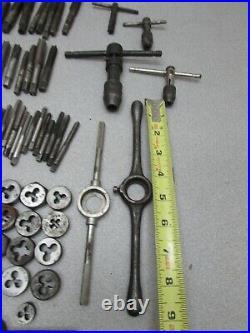 Machinist Tool Box Drawer Lot 136 Pcs Tap Die Thread Cutting Metal Shop Lathe