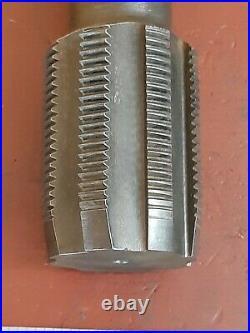 Machinist tool METAL TAP 2 1/4 8 tpi lathe chuck 8 Flute Hand Plug Monarch