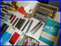Massive Lot Of Metal Machinists Lathe Tools Vintage High Speed Steel Estate