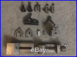 Misc Lot of Machinist Tools Lathe Clamps Holders Sine Vice V Block No Brand Mark