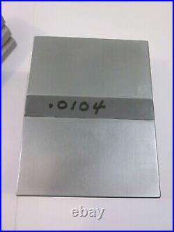 PRATT WHITNEY Labmaster Anvil Block Pair Machinist Lathe Mill Comparator Tool