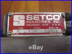 SETCO M1 Dovetail Slide CNC Milling Lathe Machinist Toolmaker Tool Retail $1452