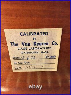 SET OF VAN KEUREN MACHINIST LATHE MILL Measuring Wire in Case GrnCb