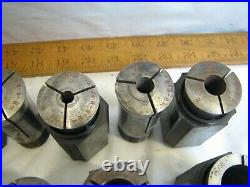 Set 15 South Bend Red Arrow 5 C5/5C Lathe Collets Machinist Tool 1/16-15/16