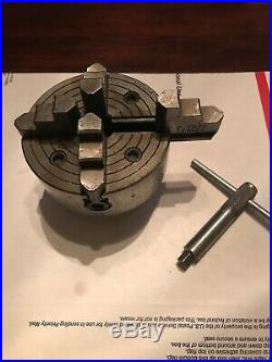 Skinner 2-5973 Jaw Chuck Lathe #9004 With Key 4 Inch Wide Machinist Tool
