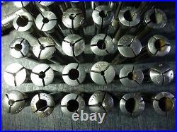 South Bend 9 Lathe 3c Collets Lot Of 53 Pcs Hardinge Royal Machinist Tools