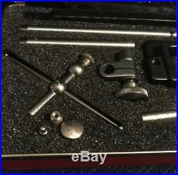 Starrett 196 A1Z Universal Dial Indicator Set In Case Machinist Metal Lathe Tool