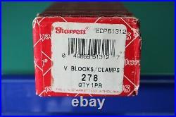 Starrett #278 Machinists 1 V-Block & Clamps Blocks Metal Lathe Sine CNC #375
