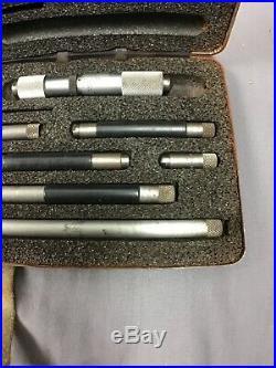 Starrett No. 823 Inside Micrometer Set Machinist Lathe Tool Nice See pics LOT 1