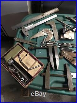 USA Machinist Tool Lot Starrett Lufkin Brown Sharpe ETC Milling Machine Lathe
