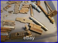 VERY Lg. Lot of Vintage Machinist Lathe Tools Cutting bits End stock tool & misc
