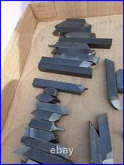 Vintage 3/8 Machinist TOOLS LATHE MILL Lathe Cutting Bits Cutter 60 Pieces HSS