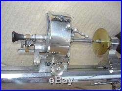 Vintage American Watch & Tool Jewelers Machinist Lathe + Rare Drill Attachment