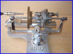 Vintage Boley Jewelers Machinist Lathe Tool Borel Base + Idler Jack Pulley Shaft