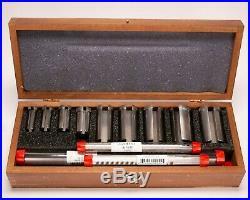 Vintage Machinist Tool Lathe Dumont Minute Man No 10 # 11104 18 Pc Broach Set