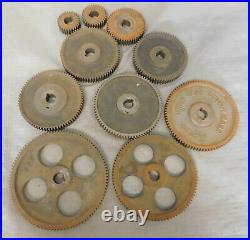Vintage Machinist & User Tools 10 Lathe Gears from Reed Lathe