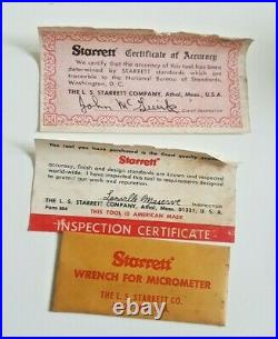 Vintage Starrett 700A Inside Micrometer With Original Box MACHINIST LATHE MILL