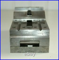 Vintage machinist tool lathe mill sine vise 2 3/4 Wide Jaws