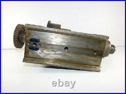 Vtg 1942 RIVETT 505 Lathe Metal Machine Machinist Flat Belt- Head Stock