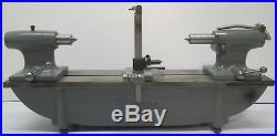 Vtg Taft Peirce Machinist Metalworking Lathe Tool Bench Center & 30 Bed
