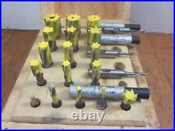 WELDON Jig Borer Bore HSS End Reamer Set Machinist Lathe Mill Tool Lot FreeS&H